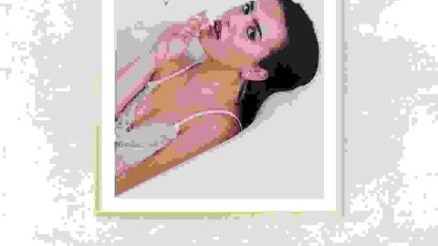 Woman smoking photo frame
